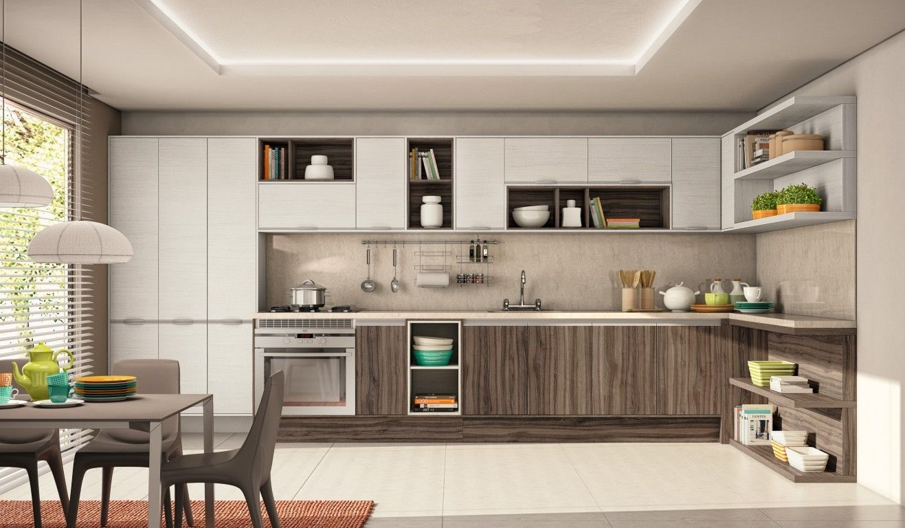 projeto de cozinha planejada preço em itu cod 5634 cozinhas modulada  #9A6431 1317 768